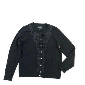 Cynthia Rowley Black Wool Blend Cardigan Sweater